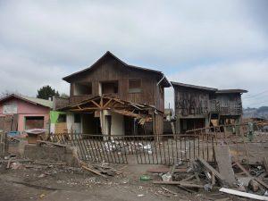 Zerstörte Häuser nach dem Erdbeben in Chile 2007